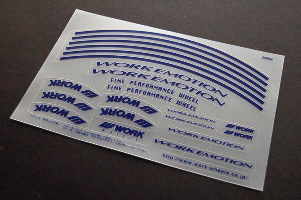 WORK - Emotion 11R Decal - PerformaLink - High Performance